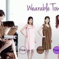 Wearable Baju Handuk Multifungsi ( Warna cek etalase )