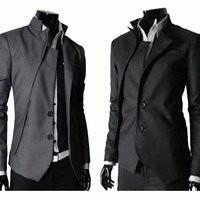 Jas Blazer Model Korea : BLACK and Grey GAKURAN