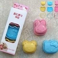Set Cetakan Nasi Mini Motif Hello Kitty + Beruang + Kelinci (1 Set Isi 3)