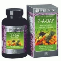 8001A - Suplemen nutrisi vitamin mineral Wellness 2-A-Day isi 60