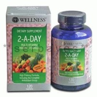 8001B - Suplemen nutrisi vitamin mineral Wellness 2-A-Day isi 120