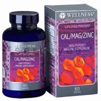 8005A - Suplemen nutrisi vitamin mineral Wellness Cal/Mag/Zinz isi 60