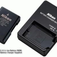 Charger MH-24 untuk baterai EN-EL14 untuk kamera Nikon D3100 dan D5100
