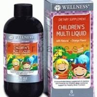 8010A - Suplemen nutrisi vitamin mineral Wellness Children's Multi Liquid 240 ml