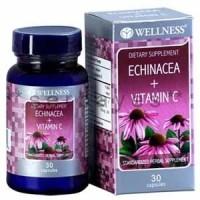 8013A - Suplemen nutrisi vitamin mineral Wellness Echinacea + Vitamin C isi 30