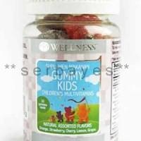 8020A - Suplemen nutrisi vitamin mineral Wellness Gummy Kids isi 30