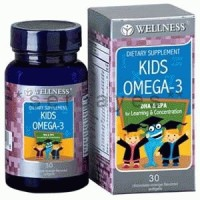 8025A - Suplemen nutrisi vitamin mineral Wellness Kids Omega 3 isi 30