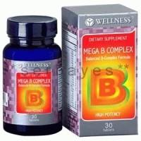 8026A - Suplemen nutrisi vitamin mineral Wellness Mega B Complex isi 30
