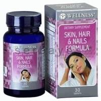 8038A - Suplemen nutrisi vitamin mineral Wellness Skin Hair Nail Formula isi 30