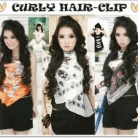 Styleist Hairclip 3 layer lurus/curly
