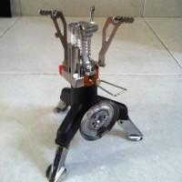 1 Set Kompor Kemping bahan bakar Gas - Outdoor Camping Stove Gas-Powered Cooker Picnic Burner Stove Portable Case