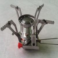 Kompor Kemping bahan bakar Gas - Outdoor Camping Stove Gas-Powered Cooker Picnic Burner Stove Portable Case