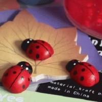 Stiker Dinding / Kulkas Kayu 3D Berbentuk Kumbang Mini