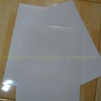 Stiker / Sticker A4 Transparan Transparant ( bening )