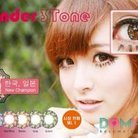 Softlens Coco Eye Lavender 3 Tone Burgundy (Red Wine) Diameter 22mm