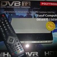 Set Top Box DVB-T2 POLYTRON PDV 500T2 - Resmi Sertifikasi Kominfo dengan Harga Terjangkau