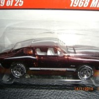 HOT WHEELS 1968 MUSTANG HOT WHEELS CLASSICS SERIES 1 SPECTRA FLAME BROWN