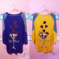 Strawberry Batwing Tops