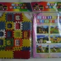 Mainan Puzzle Bangunan Rumah
