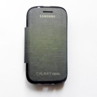 Samsung Galaxy Young Gt-s6310 Flip Cover Case [hitam]
