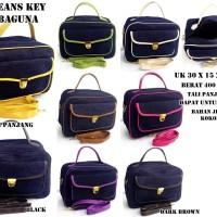 Tas Jeans Bag Key Serbaguna Kosmetik Slempang