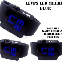 JAM TANGAN LEVIS LED MATRIX BLUE SUPER black