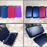 Jual Leather Flip Cover Case Lenovo A369i
