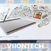 Wacom Intuos Pen & Touch Medium CTH480 Pen Tablet Alat Desain Grafis