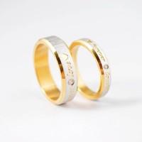 Cincin Couple - Golden Love Ring