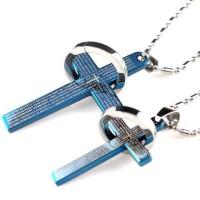 Kalung Couple - Blue Cross Couple