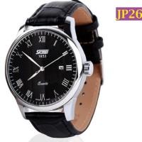 Jam Tangan SKMEI 1853 Quartz Auto Date Genuine Calf Leather - JP263