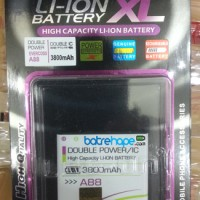 Baterai Battery Double Dobel Power Cross A88 3800Mah Merk Log-on Logon