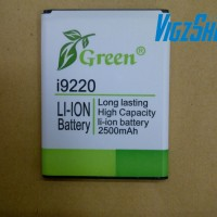 Battery/Batre/Baterai Samsung Galaxy Note I9220/GT-N7000 Merk Green