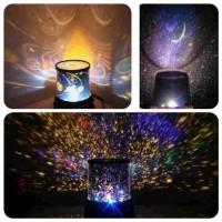 Lampu Tidur Proyektor Star Master Bulan Bintang Planet Hello Kitty HK