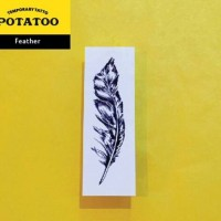 Potatoo Temporary Waterbased Tatoo - Black Feather