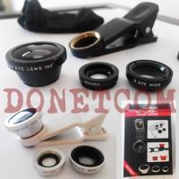 Jual lensa fish eye 3 in 1 handphone universal clip lens Murah