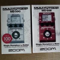 Efek Gitar Zoom MS 50 G / MS50G (Gitar) / MS60B / MS 60 B (Bass)