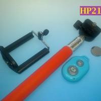 HP215 - Tongsis Tongkat Narsis dan Bluetooth Remote Control Selfie Stick