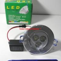 Lampu LED Plafon Down Light Bulat Mini 3x1 W 220V Putih / White ERICON