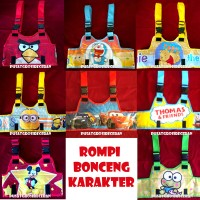 Jual Rompi Bonceng Karakter (Sabuk bonceng model Rompi) Hello Kittty, Angry Bird, Cars, Doraemon, Mickey, Minnie, Minion, Pooh dll Murah
