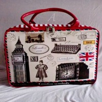 Travel Bag Kanvas Karakter London [Free Ongkier]