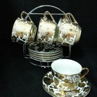 CAFE SET WITH CHROME STAND 13pcs BISTRO 13130