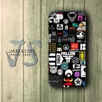 Skateboard Sticker iPhone Case DC Vans ,Casing Type 4 4s 5 5s 5c hp