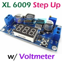 XL6009 with VOLTMETER Adjustable DC -DC Step Up Boost Module