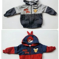 Jual jaket sweater angry birds tanduk newborn Murah