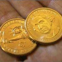 Uang kuno 1 dolar koin seri presiden amerika dollar washington zhacary