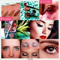 Eye brow cream gel tint+ eyeliner pen smudge with brow brushes eyebrow