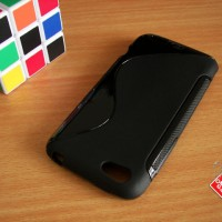 Soft Gel Jelly Silicon Silikon TPU Case Softcase HTC One V Hitam