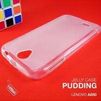 Soft Gel Jelly Silicon TPU Case utk Lenovo A850 warna Clear Transparan