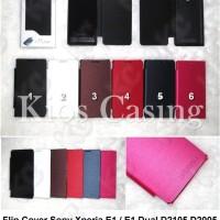 Case Casing Sarung Flip Cover Sony Xperia E1 / E1 Dual D2105 D2005